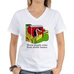 Horse People Stable Homes Women's V-Neck T-Shirt