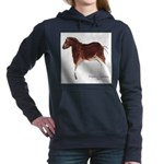 Horse Cave Painting Women's Hooded Sweatshirt