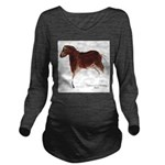 Horse Cave Painting Long Sleeve Maternity T-Shirt