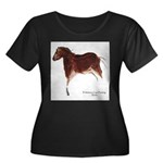 Horse Cave Painting Women's Plus Size Scoop Neck D