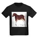 Horse Cave Painting Kids Dark T-Shirt