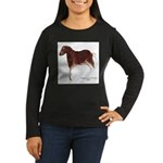 Horse Cave Painting Women's Long Sleeve Dark T-Shi