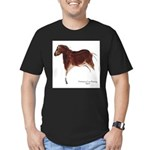 Horse Cave Painting Men's Fitted T-Shirt (dark)