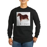 Horse Cave Painting Long Sleeve Dark T-Shirt