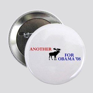 "Moose for Obama '08 2.25"" Button"