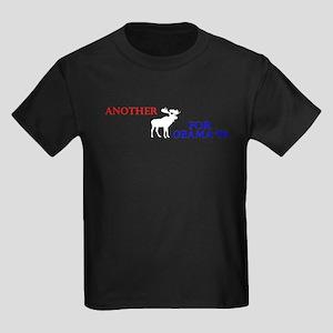 Moose for Obama '08 Kids Dark T-Shirt