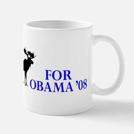 Moose for Obama '08 Mug
