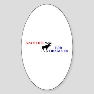 Moose for Obama '08 Oval Sticker