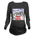 Paint Horse Pride Long Sleeve Maternity T-Shirt