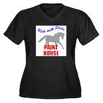 Paint Horse Pride Women's Plus Size V-Neck Dark T-