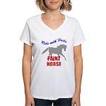 Paint Horse Pride Women's V-Neck T-Shirt