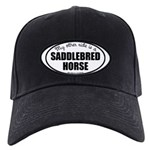 American Saddlebred Horse Gif Black Cap with Patch