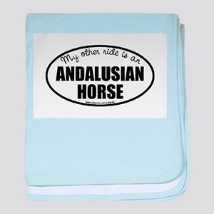 Andalusian Horse Gifts baby blanket