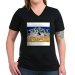 Appaloosa-Dance Women's V-Neck Dark T-Shirt