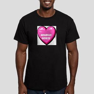 arabian-horse-FIN Men's Fitted T-Shirt (dark)