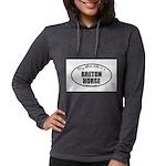 Breton Horse Gifts Womens Hooded Shirt