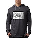 Breton Horse Gifts Mens Hooded Shirt