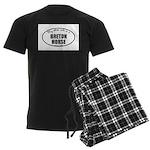 Breton Horse Gifts Men's Dark Pajamas