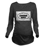 Canadian Horse Gifts Long Sleeve Maternity T-Shirt