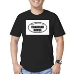 Canadian Horse Gifts Men's Fitted T-Shirt (dar