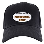 Connemara Pony Gifts Black Cap with Patch