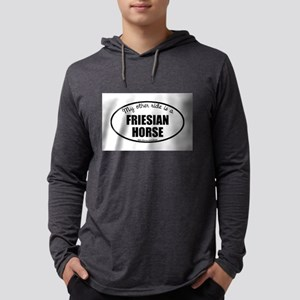 Friesian Horse Gifts Mens Hooded Shirt