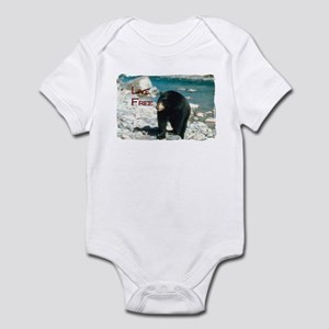 Live Free - Black Bear Infant Bodysuit