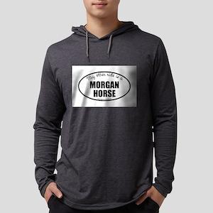Morgan Horse Gifts Mens Hooded Shirt