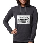 Mountain Horse Gifts Womens Hooded Shirt