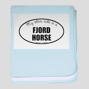 Norwegian Fjord Horse Gifts baby blanket