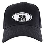 Norwegian Fjord Horse Gifts Black Cap with Patch