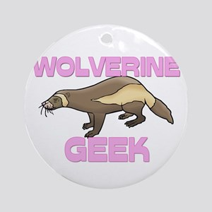 Wolverine Geek Ornament (Round)