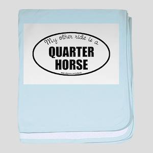 Quarter Horse baby blanket