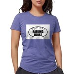 Racking Horse Womens Tri-blend T-Shirt