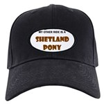 Shetland Pony Gifts Black Cap with Patch