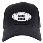 Shire Horse Black Cap with Patch