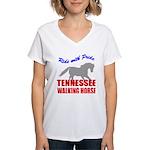 rwp-tennessee-walking-horse Women's V-Neck T-Shirt