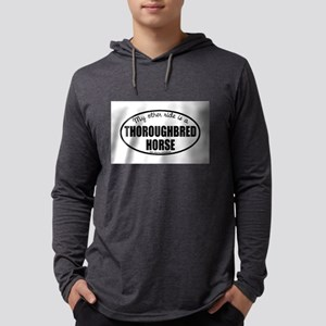 Thoroughbred Horse Gifts Mens Hooded Shirt