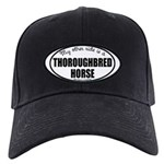 Thoroughbred Horse Gifts Black Cap with Patch
