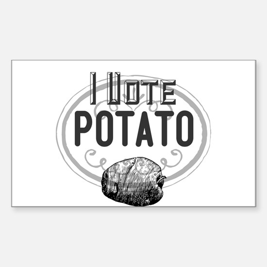 I Vote Potato Decal