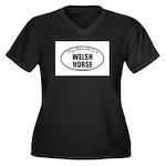 Welsh Horse Women's Plus Size V-Neck Dark T-Sh