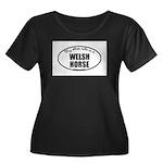 Welsh Horse Women's Plus Size Scoop Neck Dark