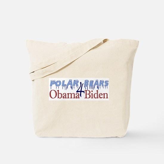 Polar Bears for Obama Biden Tote Bag