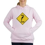 crossing-sign-parrot Women's Hooded Sweatshirt