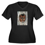 Owl Gifts Women's Plus Size V-Neck Dark T-Shir