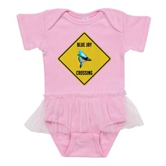 crossing-sign-blue-jay Baby Tutu Bodysuit