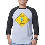 crossing-sign-blue-jay Mens Baseball Tee