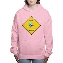 crossing-sign-blue-jay Women's Hooded Sweatshirt