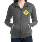 crossing-sign-bluebird-2 Women's Zip Hoodie