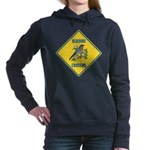 crossing-sign-bluebird-2 Women's Hooded Sweatshirt